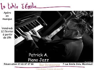 la table d'emile apéro piano jazz