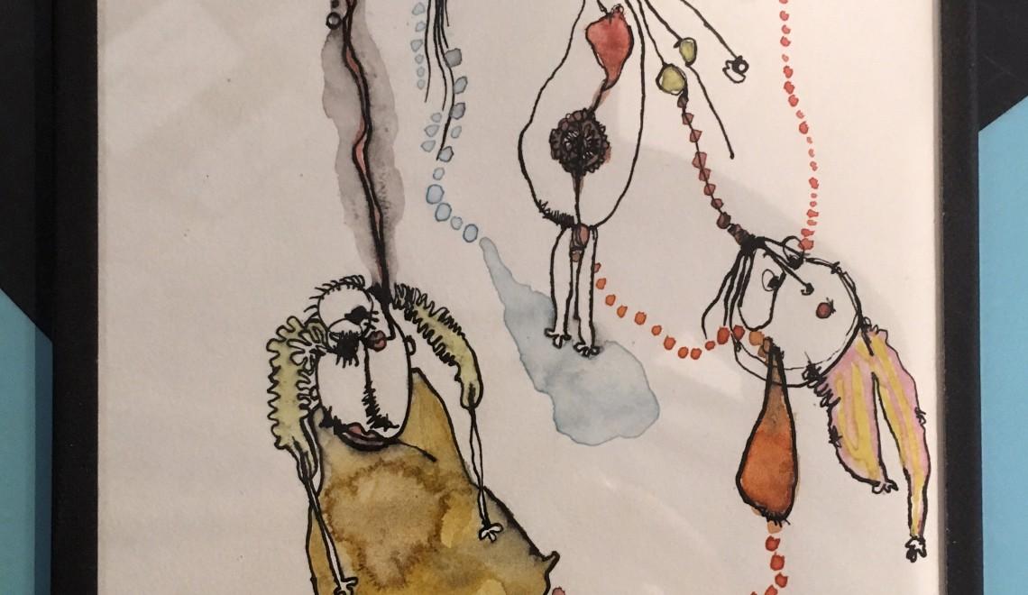 Exposition de dessins de Sidonie Rocher jusqu'au 30 mars chez les Tatas Flingueuses