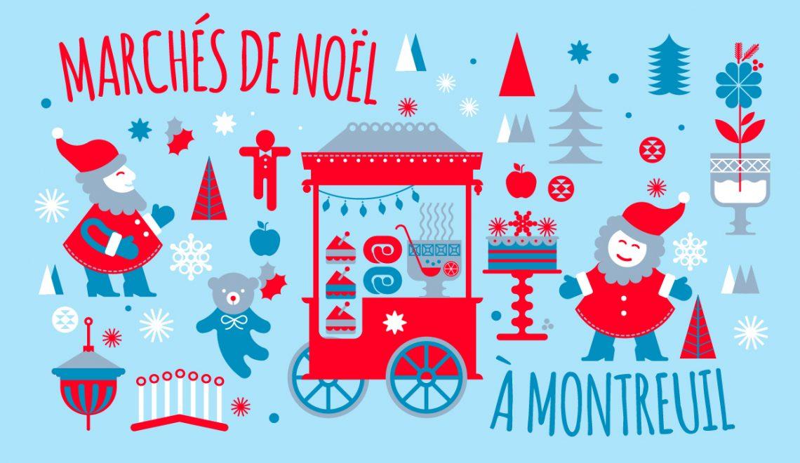 Les marchés de Noël de Montreuil