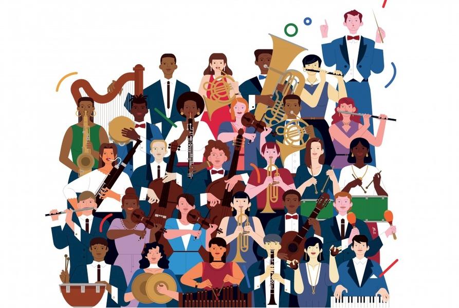 dessin orchestre