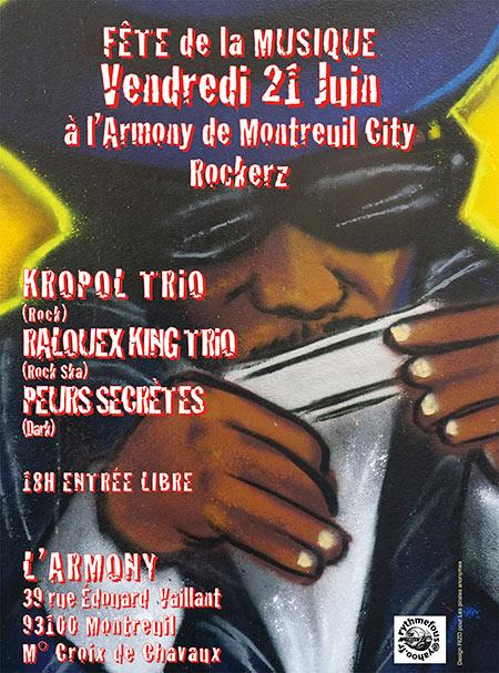 Montreuil city Rockers à l'Armony. pour la fête de la musique
