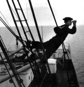 Buster Keaton sur un bateau